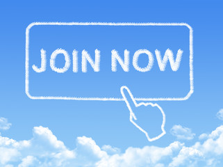 Join now message cloud shape
