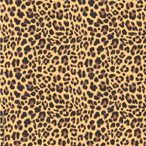 Fototapeta Leopard seamless pattern design, vector illustration background