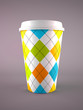 coffee cup isolated on grey background
