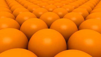 Orange spheres backgroumd 3D