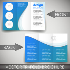 Business tri fold flyer template or corporate banner