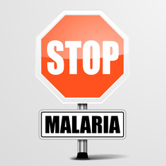 red Malaria Stop Sign