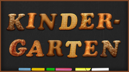 Kreidetafel Kekse - Kindergarten - 16 zu 9 - g1028