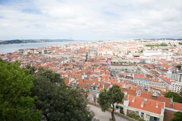 Vue de Lisbonne depuis le Castelo de Sao Jorge