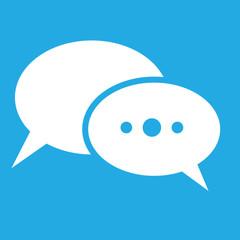 Sprechblasen weiss - blauer Hintergrund