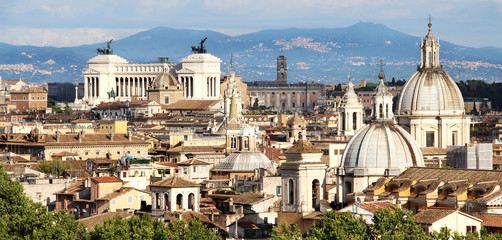 Beautiful panorama of Rome, Italy
