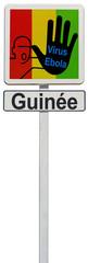 panneau Guinée stop au virus Ebola
