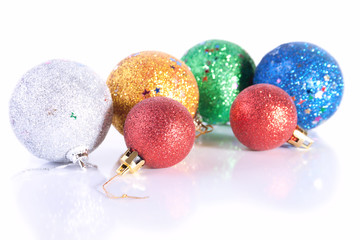Group of Sparkling Christmas Toys