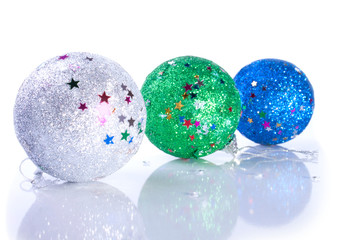 Three Shiny Christmas Ball Toys