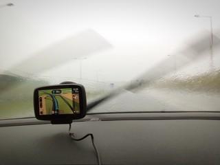 Viaggio con pioggia