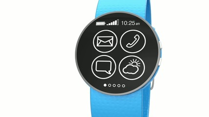 Apps operating demonstration on a smart watch