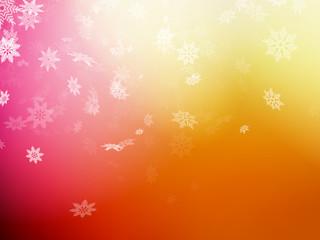 Christmas template on orange background. EPS 10