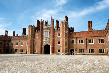 Main Court at Hampton Court Palace near London