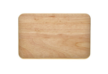 Holzbrett auf weissen Hintergrund