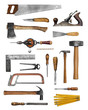 Old carpenter hand tools