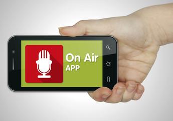 On air app. Mobile