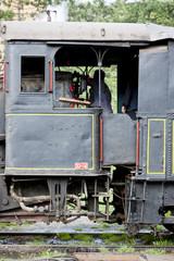 detail of steam locomotive (126.014), Resavica, Serbia