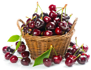 Cherry in basket
