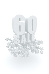 Concept of sale. Discount percent off. 3D illustration.