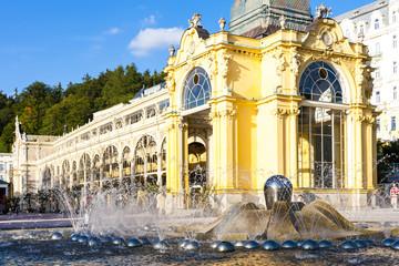 Colonnade with Singing fountain, Marianske Lazne (Marienbad), Cz