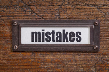 mistakes - file cabinet label