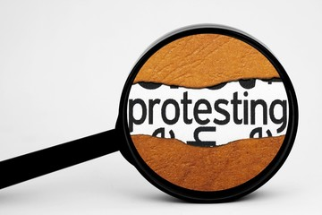 Search for protest