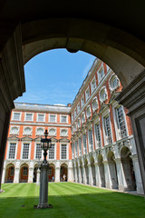 Fountain Court at Hampton Court Palace near London