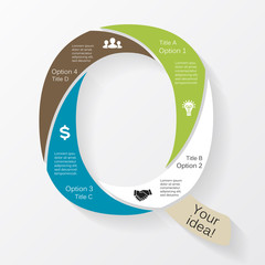 Vector business infographic, diagram, presentation