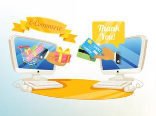 Vector Shopping E Commerce Illustration