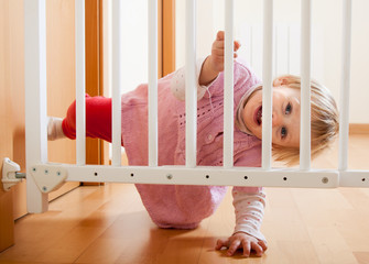 Baby and  stair gate