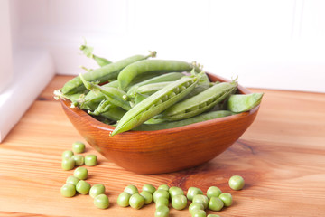 peas in the bowl