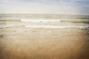 vintage background seashore in the north sea