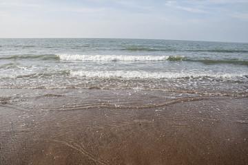seashore in the north sea, belgium