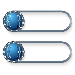 set of two buttons with arrows and square brackets