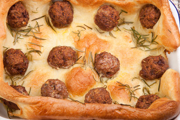 meatballs in yorkshire pudding