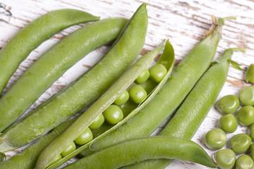 close up green peas