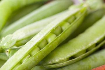macro picture of green peas