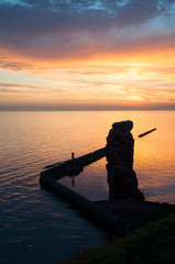 Sonnenuntergang Helgoland