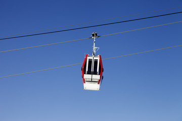 Gondola lift and blue sky