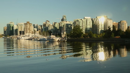 Downtown Vancouver Evening Coal Harbor