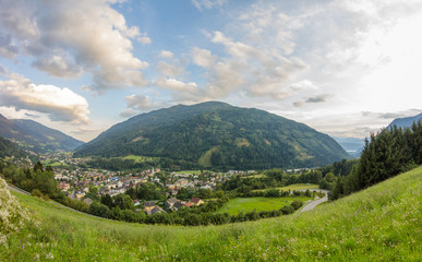 Radenthein Panorama Summer 2014 With Mt. Mirnock In Background