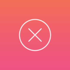 Close / Cancel  - Finely crafted line icons