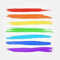 Watercolor brushes vector design design elements
