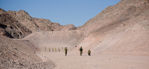 Israeli Soldiers on shooting ground