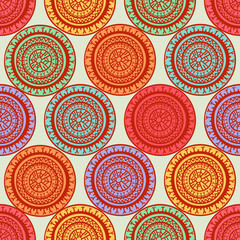 round colorful tribal patterns