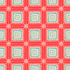 tribal pattern with squares