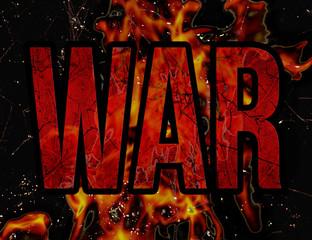 War Typography Grunge Style Illustration Design