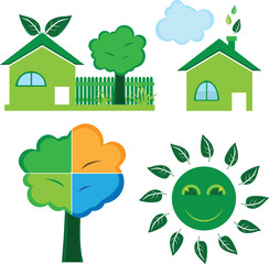 Green Environmental Icons - ecology - Illustration