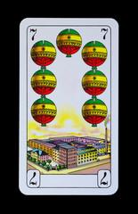 Spielkarten und Denkmäler  - Schellen Sieben - Fabrik Altenburg