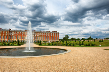 Privy Garden at Hampton Court Palace near London